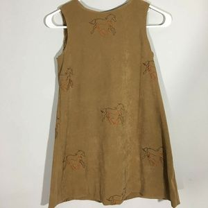 Tan/Brown Sued Like Vest with Horses Small